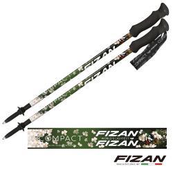 FIZAN  超輕三節式健行登山杖2入特惠組 油桐花  (FZS21.7102.NOB)