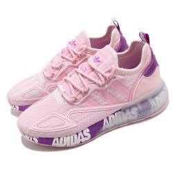 adidas 休閒鞋 ZX 2K Boost 女鞋 愛迪達 三葉草 緩震 科技感 穿搭推薦 粉 紫 FX7058 [ACS 跨運動]