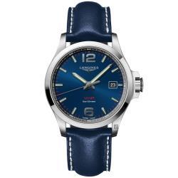 LONGINES浪琴 征服者系列V.H.P.萬年曆手錶-藍/43mm L37264960