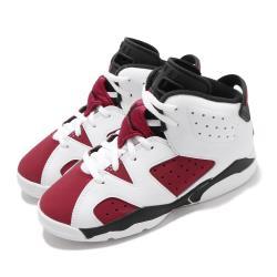Nike 籃球鞋 Jordan 6 Retro 童鞋 經典款 喬丹六代 復刻 穿搭 中童 白 紅 384666106 384666-106
