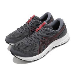 Asics 慢跑鞋 Gel-Contend 7 4E 男鞋 亞瑟士 超寬楦頭 入門 緩衝 耐磨 灰 紅 1011B039020 [ACS 跨運動]