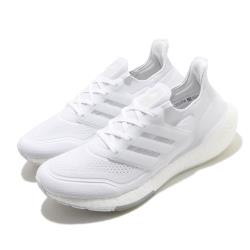 adidas 慢跑鞋 UltraBOOST 21 襪套式 男鞋 愛迪達 緩震 馬牌輪胎大底 穿搭推薦 白 FY0379 [ACS 跨運動]