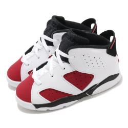 Nike 休閒鞋 Jordan 6 Retro 童鞋 經典款 喬丹六代 復刻 小童 穿搭 白 紅 384667106 384667-106