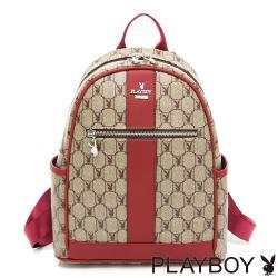 PLAYBOY-  後背包 經典方格兔系列-紅色