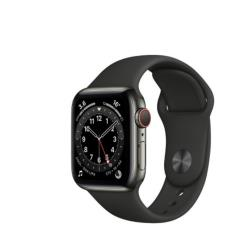 Apple Watch Series 6 LTE 不鏽鋼墨 44mm 黑運動 M09H3TA/A