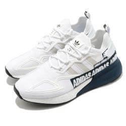 adidas 休閒鞋 ZX 2K Boost 男女鞋 愛迪達 三葉草 緩震 科技感 情侶鞋推薦 白 藍 FX7036 [ACS 跨運動]