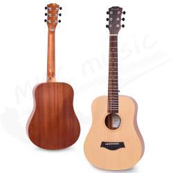 Enya 34吋 雲杉木面板 旅行吉他(EB-02) 贈超值配件組