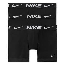 Nike 2021男時尚全棉彈力黑色合身四角修飾3入組