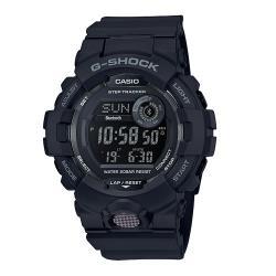【CASIO 卡西歐】G-SHOCK 運動藍牙雙顯錶 樹脂錶帶 霧面黑 防水200米(GBD-800-1B)