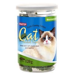 PANTOP邦比-愛貓用潔牙錠/潔牙片(艾草)120g x2罐組(943940)