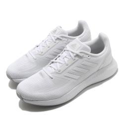 adidas 慢跑鞋 RunFalcon 2 女鞋 愛迪達 三線 基本款 路跑 上學 白 銀 FY9621 [ACS 跨運動]