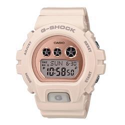 【CASIO 卡西歐】G-SHOCK 時尚電子女錶 橡膠錶帶 防水200米(GMD-S6900MC-4)