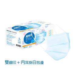 (內耳掛)摩戴舒 醫用口罩(未滅菌) 平面成人口罩(50片裸裝/盒) (雙鋼印)
