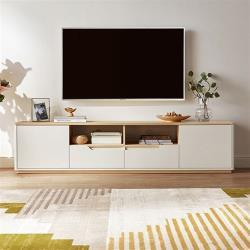 hoi!好好生活 林氏木業現代簡約小戶型1.8M電視櫃 CP2M-F-原木色