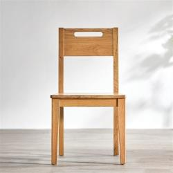 hoi!好好生活 林氏木業北歐森林白橡木餐椅兩入組 CR3S-原木色