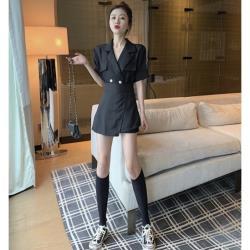 短袖英倫風韓版西裝套裝