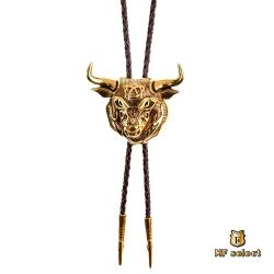 【MF select】牛轉乾坤 保羅領帶 Bolo Tie 美式項鍊 (BTJA1205N-1A) 金牛款