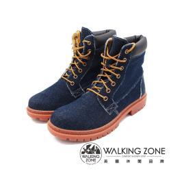 WALKING ZONE(男)經典牛仔玩色款 7孔高筒鞋靴 男鞋-牛仔藍