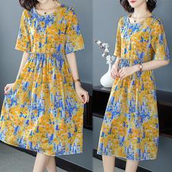 韓國K.W.  韓時尚賣瘋了印花洋裝