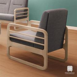 【Hampton 漢汀堡】帕特爾洗白單人休閒椅
