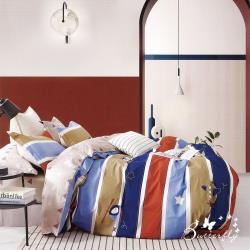 BUTTERFLY-純棉三件式枕套床包組-快樂飛行(加大)