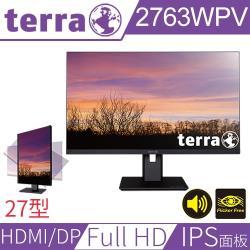 Terra沃特曼 2763WPV 27型 PLS面板 FHD不閃屏抗藍光螢幕