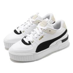 Puma 休閒鞋 Cali Sport Heritage 女鞋 厚底 增高 皮革鞋面 穿搭推薦  白 黑 37308001 [ACS 跨運動]