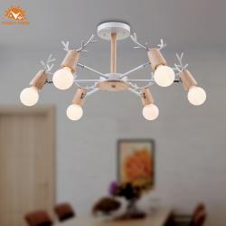 【Honey Comb】北歐風原木半吸頂六燈(MK851-6)