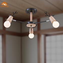 【Honey Comb】北歐風原木半吸頂三燈(MK852-3)