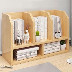 [生活藏室]桌上型五格收納書架