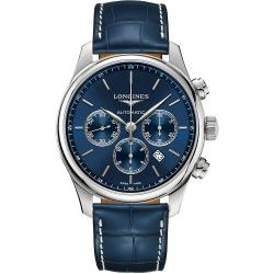 LONGINES浪琴 Master 巨擘計時機械錶-藍/44mm L28594920