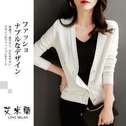 【艾米蘭】韓系V領排扣外套 (M-XL)