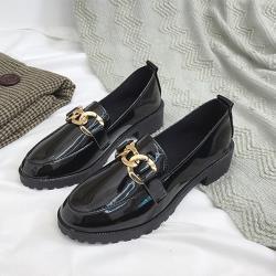 【Alice】漫步夏日金屬鍊條牛津鞋(通勤鞋/休閒鞋)