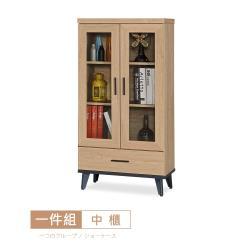 【時尚屋】[DV9]米格諾2尺一抽中櫃DV9-519-免運費/免組裝/中櫃