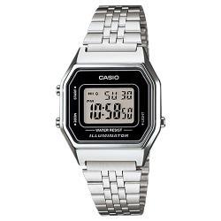 【CASIO 卡西歐】日系-復古風電子錶 不銹鋼錶帶(LA680WA-1D)