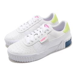 Puma 休閒鞋 Cali 復古 低筒 厚底 女鞋 海外限定 皮革鞋面 穿搭 基本款 白 粉 36915521 [ACS 跨運動]