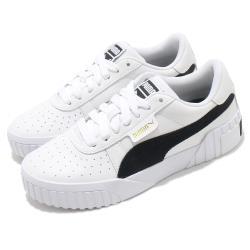 Puma 休閒鞋 Cali Corduroy 復古 厚底 女鞋 海外限定  微增高 基本款 皮革鞋面 白 黑 37466301 [ACS 跨運動]