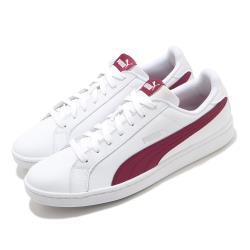 Puma 休閒鞋 Smash L 復古 低筒 男女鞋 皮革鞋面 基本款 穿搭推薦 情侶 白 紅 35672223 [ACS 跨運動]
