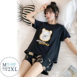 【悠美學】精梳棉短袖印花居家服套裝-俏皮動物(M-2XL)