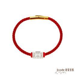 Jcode真愛密碼銀飾 大甲媽  媽祖純銀/鋼編織手鍊