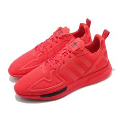 adidas 休閒鞋 ZX 2K Flux 運動 男女鞋 愛迪達 輕量 舒適 避震 情侶穿搭 球鞋 紅 黑 FV8478 [ACS 跨運動]