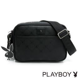 PLAYBOY - 雙層式斜背包 Master系列 - 黑色