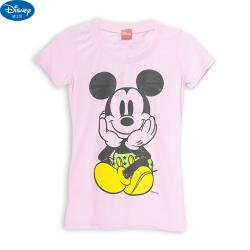 迪士尼正版 米奇 兒童小女生 短袖衣服 上衣 T恤 適合身高150cm 843117【卡通小物】