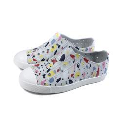 native JEFFERSON PRINT 懶人鞋 洞洞鞋 灰色 彩色印花 童鞋 12100101-8964 no020