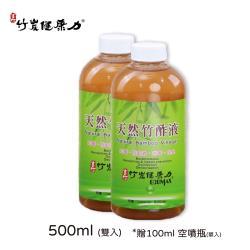 【玄竹竹炭健康力】竹醋液500ml(雙入)贈100ml 空噴瓶(單入)  BL-0050