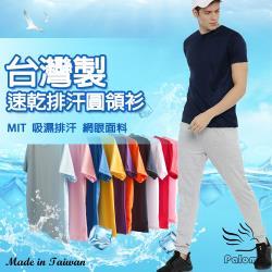【Paloma】台灣製極涼感網眼排汗衫-多色可選 男T恤 男T 短T