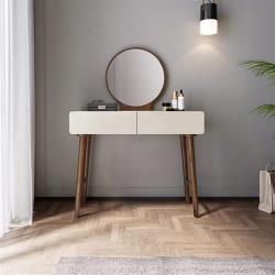 hoi!好好生活 林氏木業簡約實木框亮光漆面化妝桌 BA2C