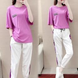 【韓國K.W.】(預購) 女神時尚潮流印花套裝褲