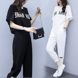 【韓國K.W.】(預購) 時尚休閒輕便自在套裝褲