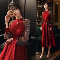 【KEITH-WILL】(預購) 氣質個性耀眼織蔥高磅洋裝